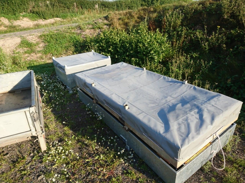 Grey PVC Stillage Cover